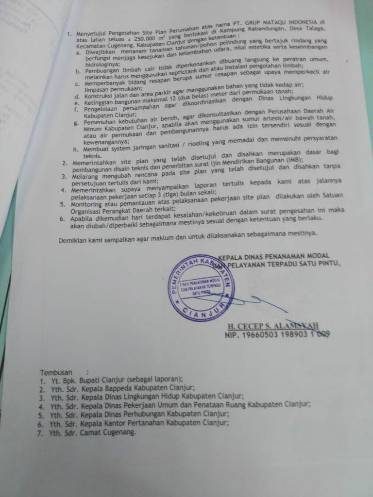 siteplan resmi kampung quran cianjur