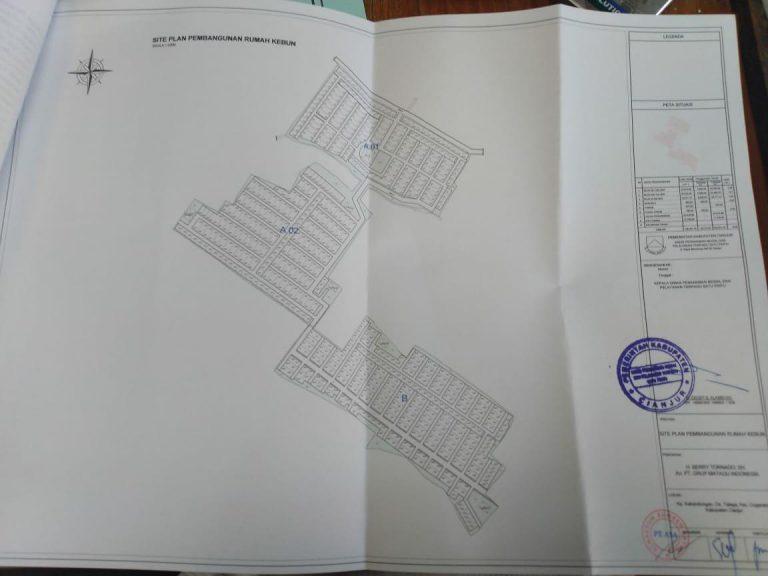 siteplan Kampung Quran yang disahkan