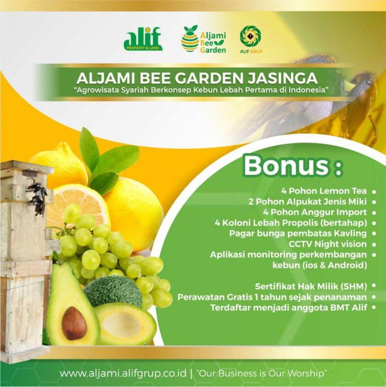 bonus kavling aljami bee garden
