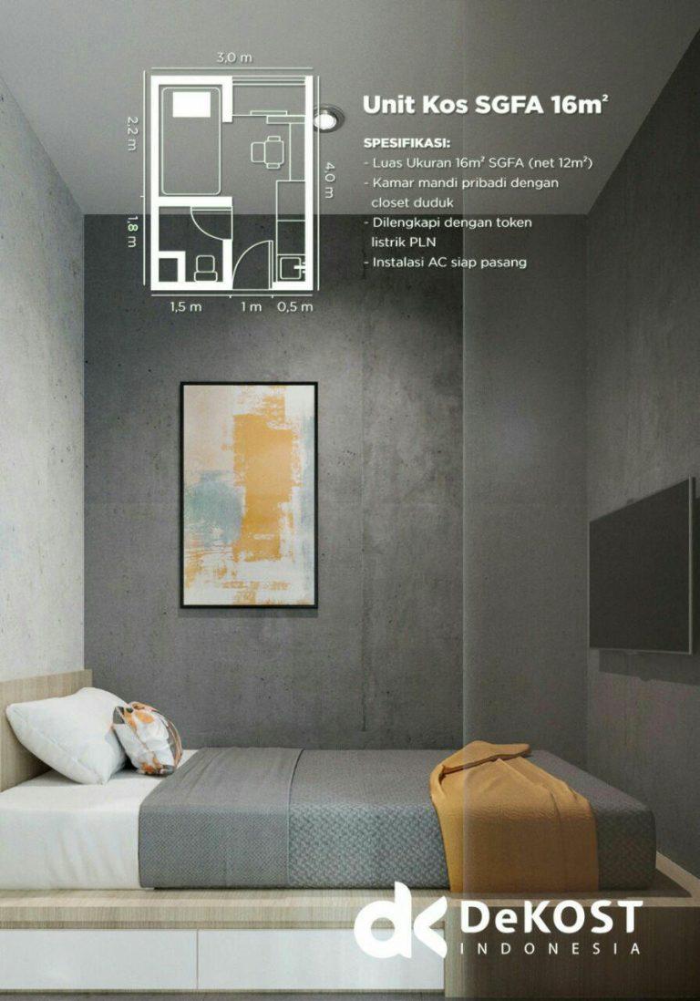spesifikasi kamar dekost indonesia