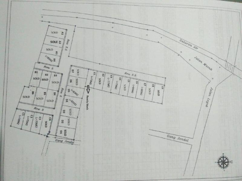 Rumah 2 Lantai di Bekasi-Nucivera Residence-siteplan 2