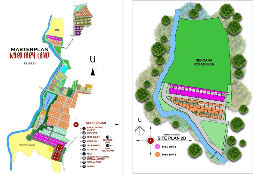 Rumah Syariah di Bogor - Tasnim Reverside-siteplan