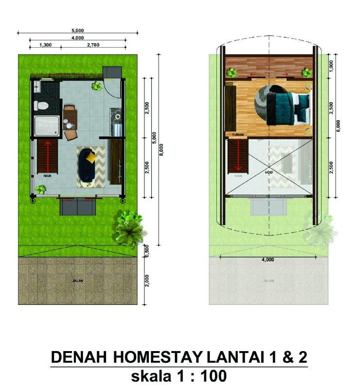 Homestay Bogor-Wisata Keluarga-Tasnim Tegalwaru-denah