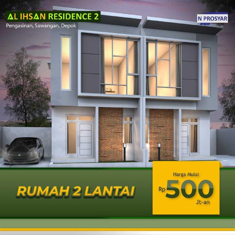 Properti Syariah- Rumah 2 Lantai Sudah Tersedia-Promo 2 lantai 500 jutaan