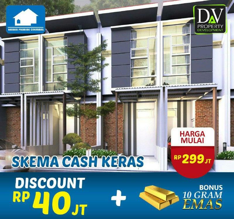 Rumah 2 Lantai Halal-Rumah Syariah Cikarang-skema cash