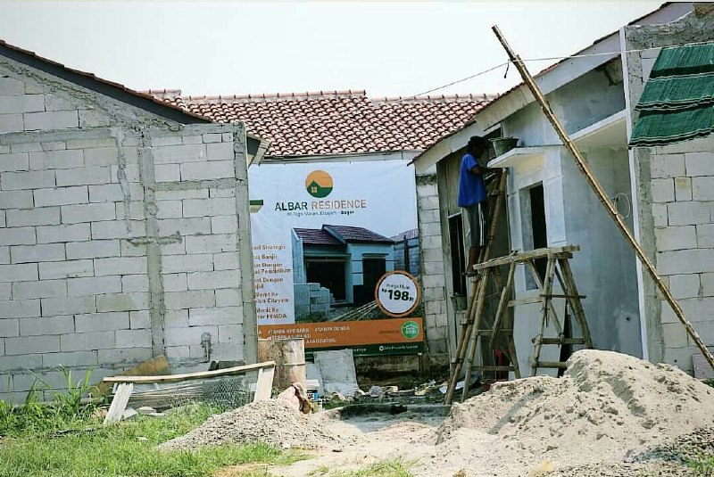 Rumah Syariah Ready Stok-Rumah Syariah Dekat Stasiun-pembangunan 1