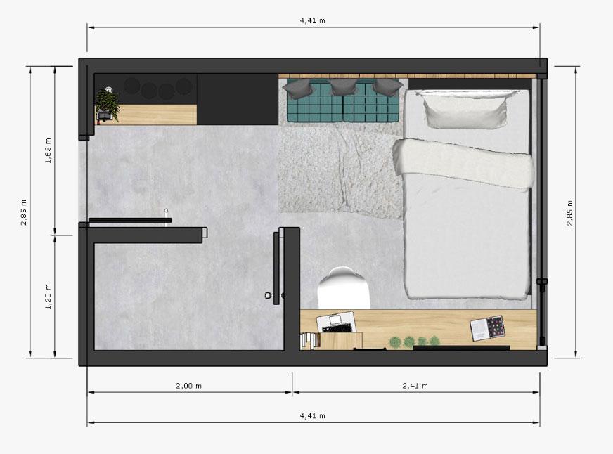 kamar ariaga house studio 1