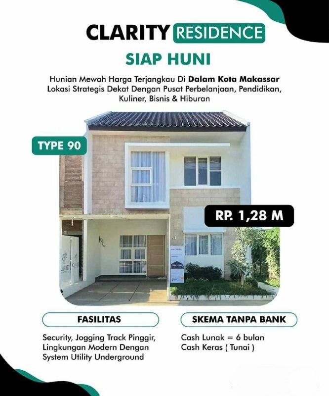 rumah syariah makassar-clarity residence-1