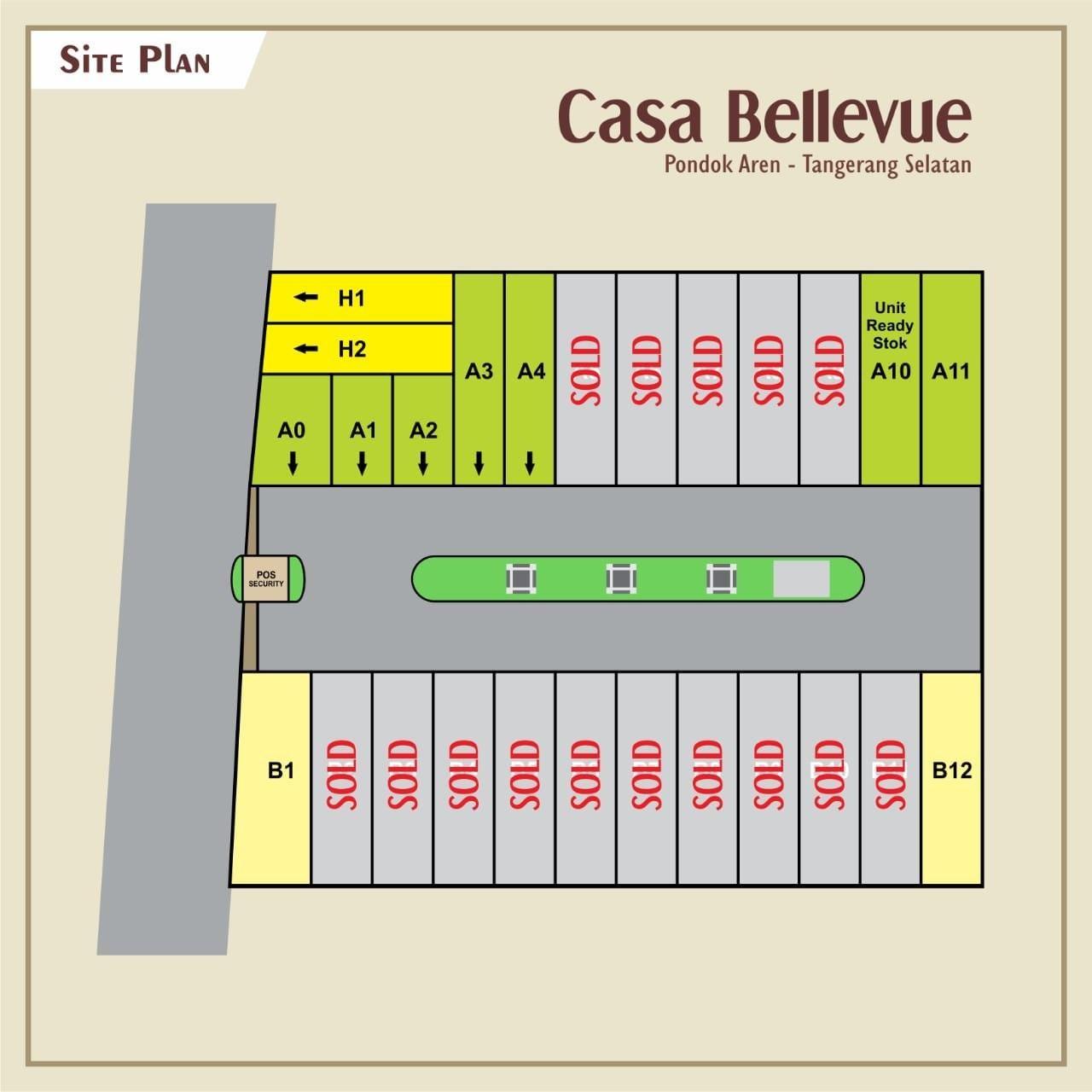siteplan cluster casa bellevue bintaro