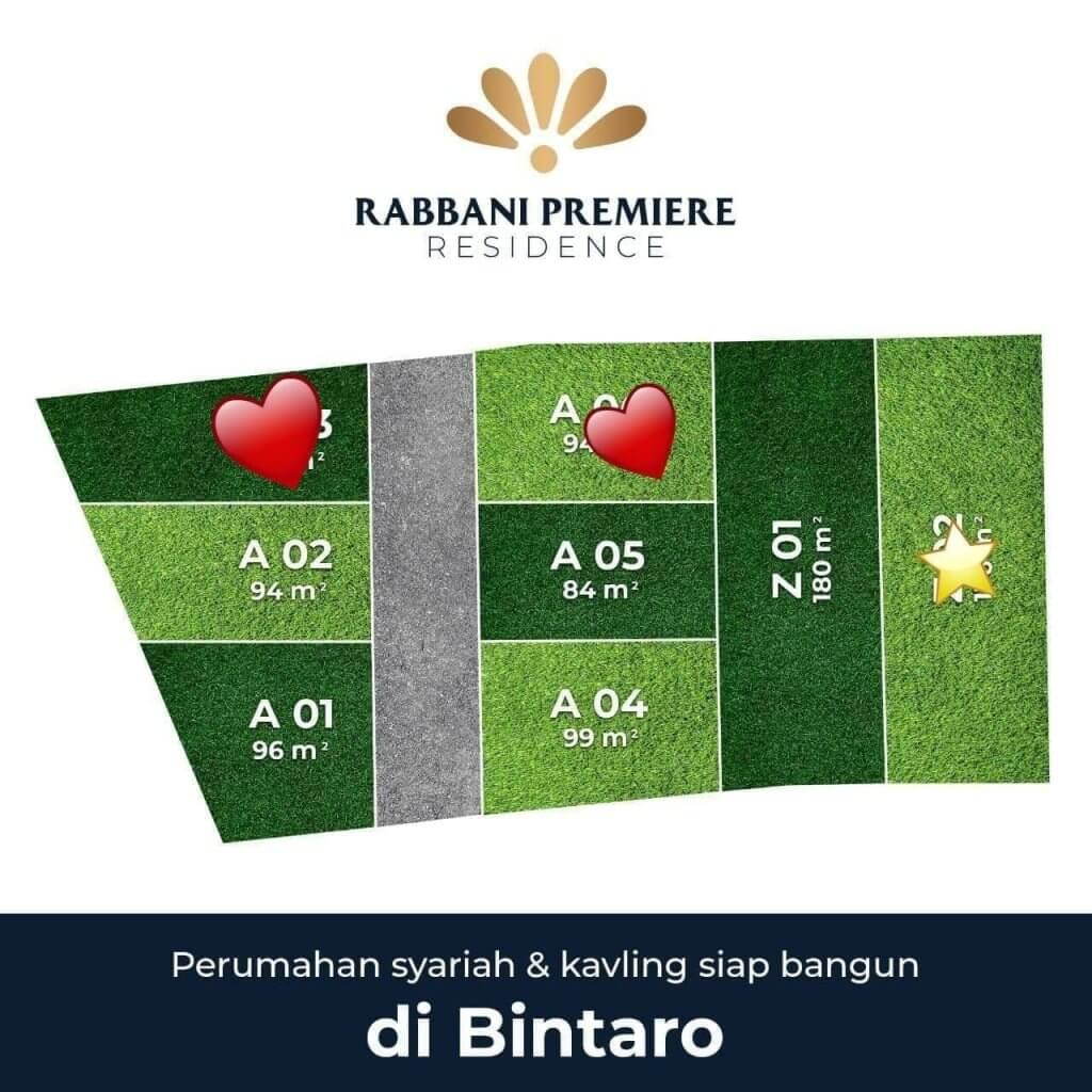 siteplan rabbani premiere residence bintaro