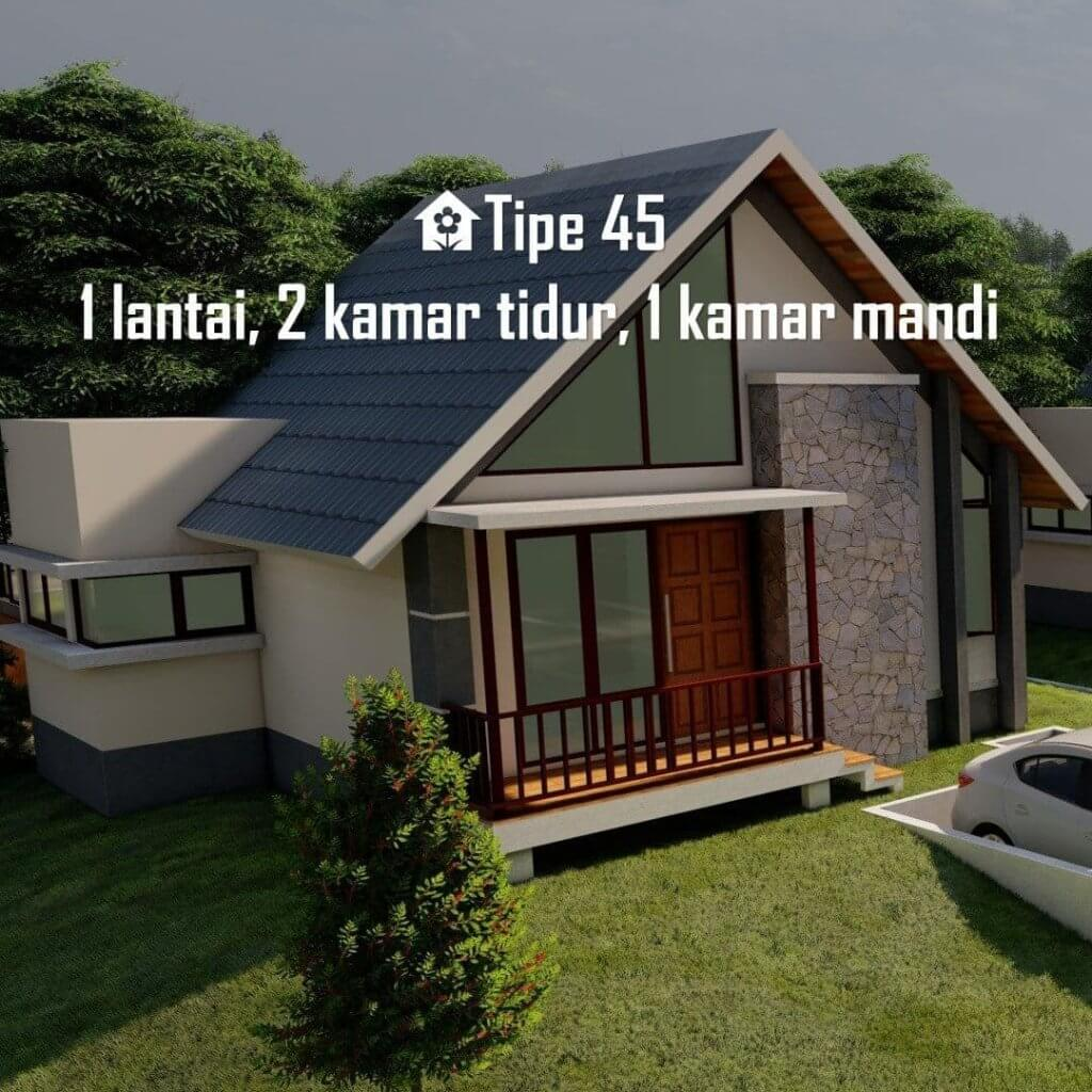 rumah type 45 aulia resort cigalontang