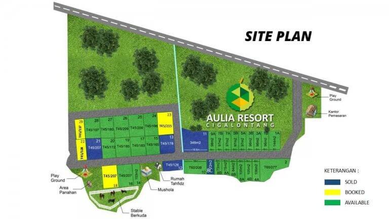 siteplan aulia resort cigalontang